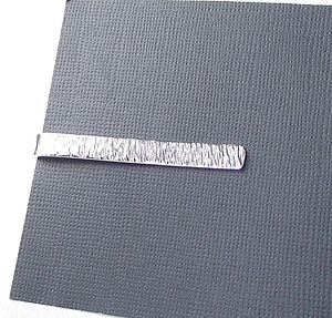 Sterling Silver Strata Personalised Tie Slide - ties & tie clips