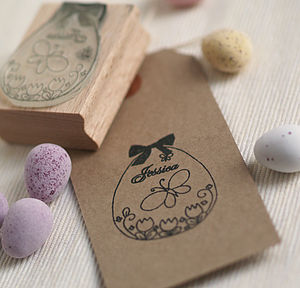 Easter Egg Butterfly Personalised Stamp - easter activities