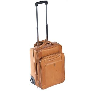 Tourer Leather Wheeled Trolley Case - bags & purses