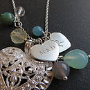 green chalcedony and crystal