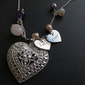 Silver Heart Charm Necklace - birthday gifts