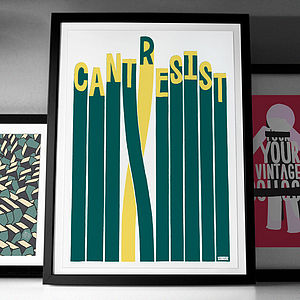 'Cant Resist' Fine Art Giclée Print - typography