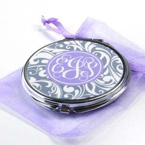 Personalised Compact Mirror Swirl