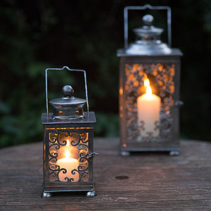 Silver Candle Lanterns - lights & lanterns