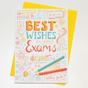 'Best Wishes In Your Exams' Card