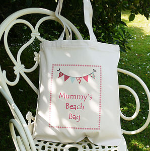 Personalised 'Mummy's' Beach Bag - garden