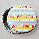 Beach Huts Pocket Mirror