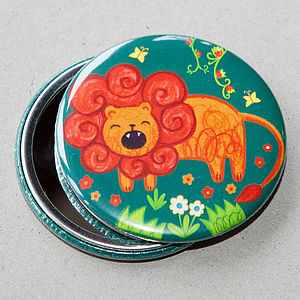 Lion Pocket Mirror - summer sale