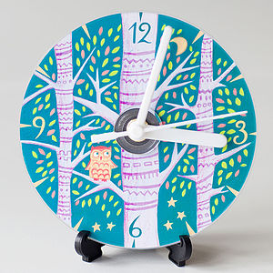 Owl Compact Disc Clock