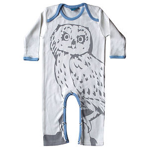 Owl Sleep Suit - babygrows