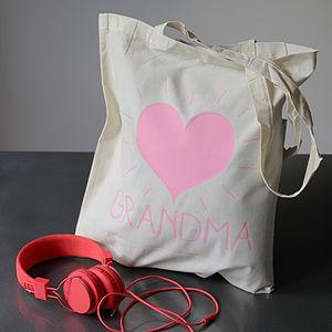 Personalised Name Heart Burst Bag - women's sale