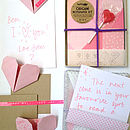 Origami Notepaper Set : Heart