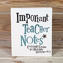 Important Teacher Notes Notebook