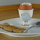 Personalised Ceramics Chick Egg Cup
