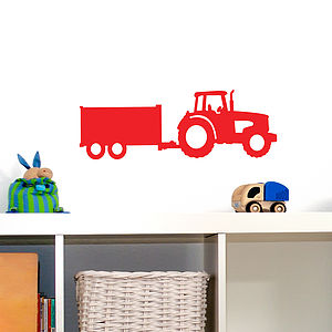 Tractor And Trailer Wall Vinyl Sticker - wall stickers