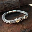 Silver And Steel Twisted Bracelet
