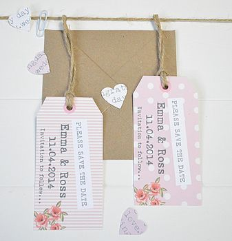 Personalised Rose 'Save The Date' Tags