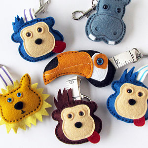 Handmade Felt Jungle Keyring