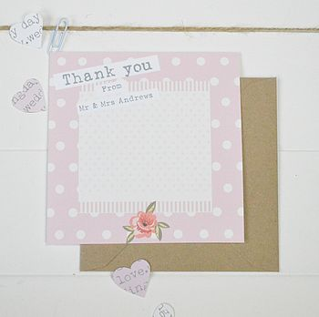 Personalised Rose Thank You Cards