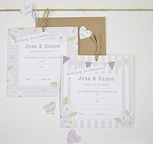 Wedding Invitation Garden Party Style