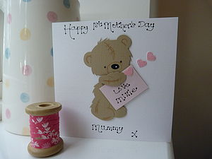 Personalised 1st Mother's Day Bear Card - shop by category