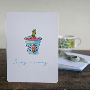 Four All Purpose Spring Notecards
