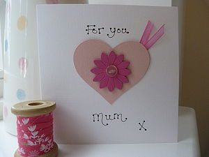Personalised Heart Mother's Day Card - winter sale