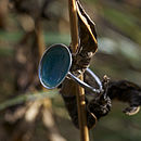 Silver Celeste Enamel Ring