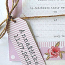 Personalised Rose Tags And Twine