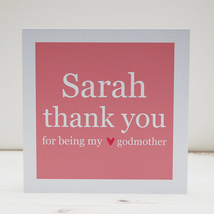 Personalised Godparent Thank You Card By Spotty N Stripy