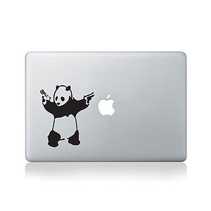 Banksy Panda Decal For Macbook - laptop bags & cases