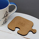 Four Personalised Wooden Jigsaw Coasters