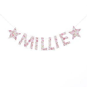 D'anjo Liberty Fabric Name Garland - baby & child