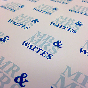 Personalised Wedding Wrap   Mr And Mrs - wrapping paper