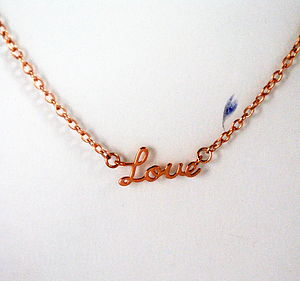 Rose Gold Love Necklace - women's jewellery