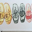 Three Brogues Hand Illustrated Fathers Day Print