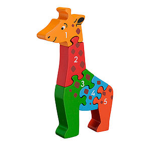 Eco Friendly Giraffe Toddler Jigsaw - baby & child