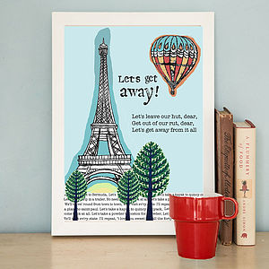 'Let's Get Away' Print - home accessories