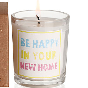 'Be Happy In Your New Home' Candle - candles & candlesticks