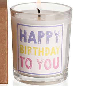 'Happy Birthday' Candle - candles