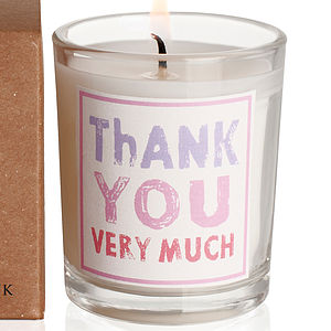'Thank You Very Much' Candle - candles