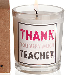 'Thank You Very Much Teacher - candles & candlesticks