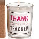 'Thank You Very Much Teacher