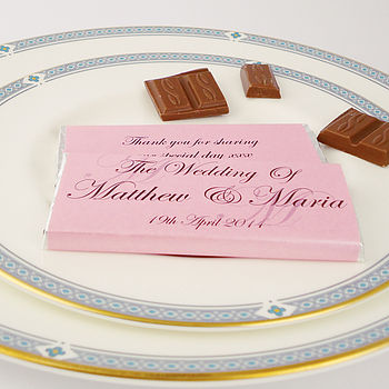 Personalised Initial Wedding Favours