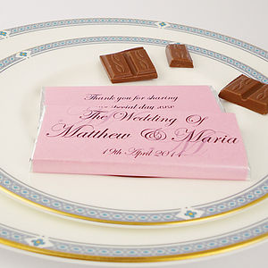 Personalised Initial Wedding Favours - chocolates