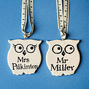 Personalised Wise Owl For Teachers