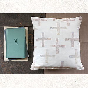 Cross Cushion Cover - quirky neutral living room