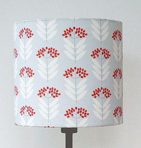 Elderberry Pattern Print Lampshade - children's lighting