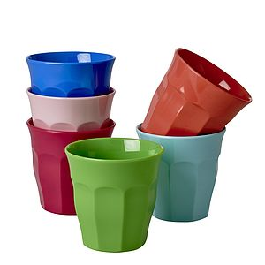 Colourful Melamine Tumblers Assorted - cups & saucers