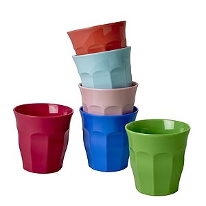 Colourful Melamine Tumblers Assorted - children's tableware